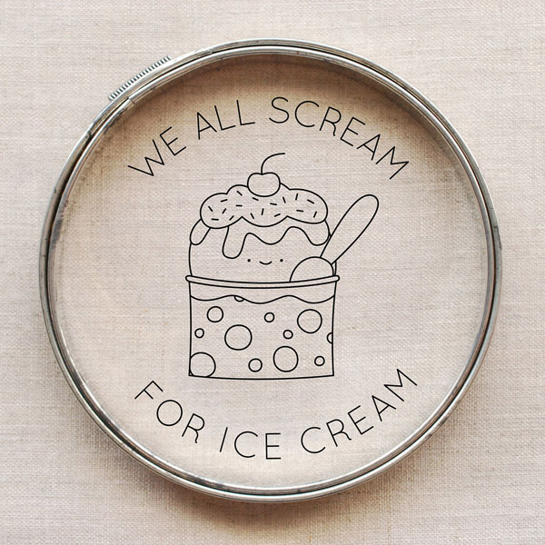 Kawaii Ice Cream free embroidery pattern
