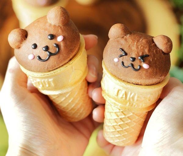 bread bear ice cream cone cups
