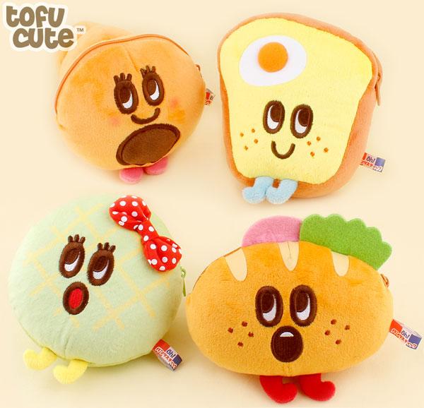 kawaii bread pouches