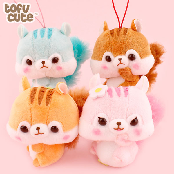 kawaii squirrels plush