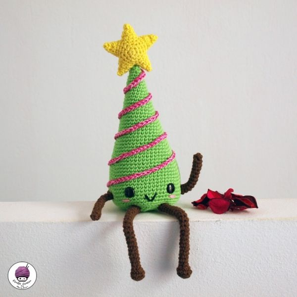 Kawaii Christmas tree amigurumi crochet patterns