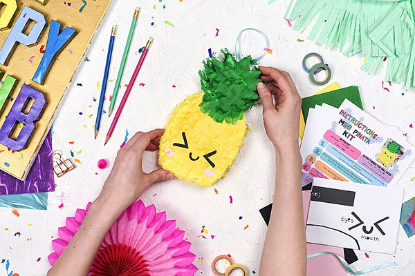 kawaii pineapple pinata kit