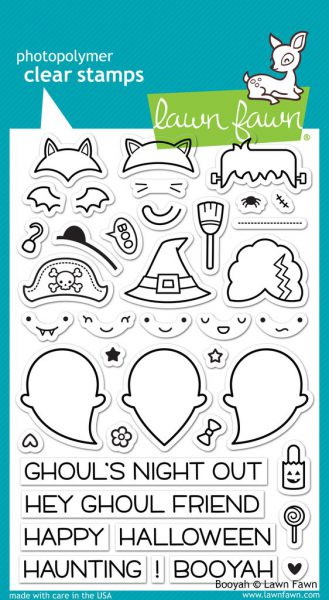 clear stamps kawaii halloween ghosts