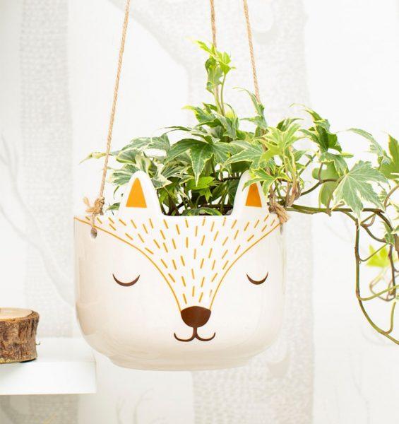 Cute Animal Decorations - fox planter