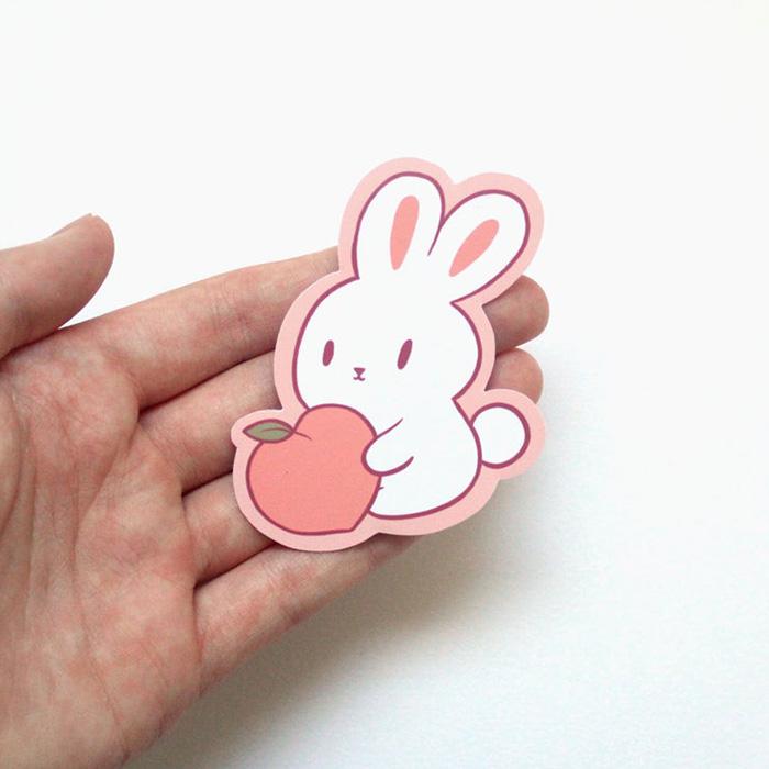 Kawaii Peaches stickers