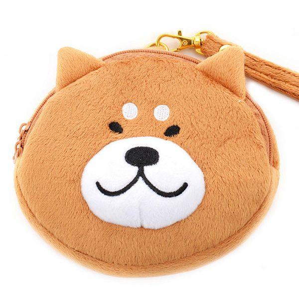 shiba inu kawaii dog plush pouch