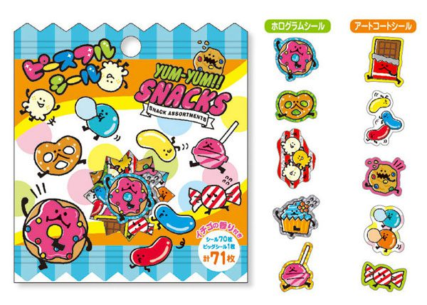 kawaii stationery food stickers