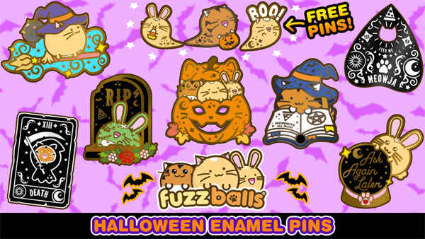 Kawaii Kickstarter Projects - halloween enamel pins