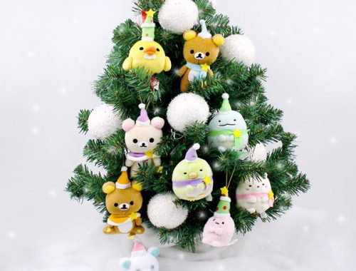 Kawaii Christmas decorations - San-X plush ornaments
