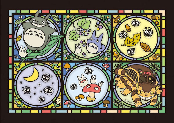 Kawaii Jigsaw Puzzles - Ghibli stained glass