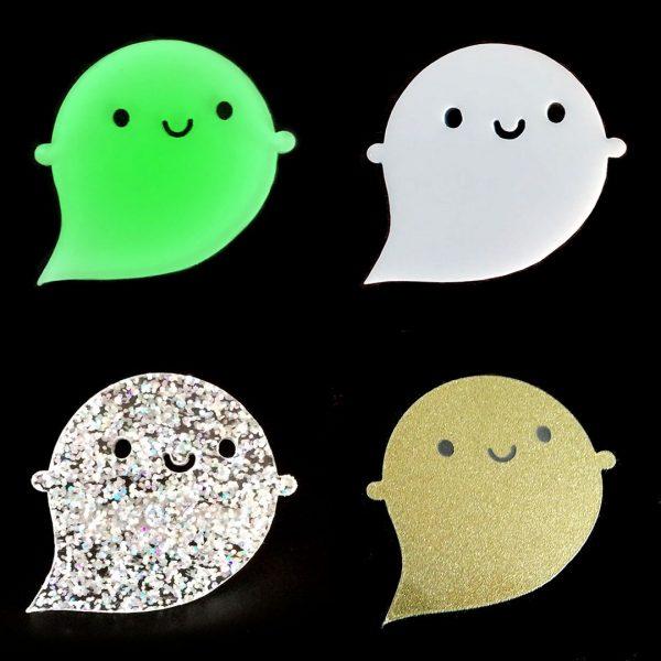 Kawaii Halloween ghost brooches