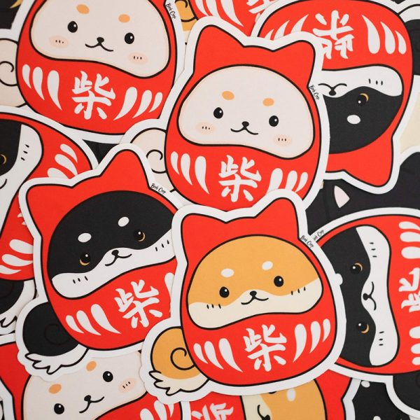 Cute Daruma stickers