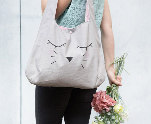 free DIY patterns - kawaii cat bag