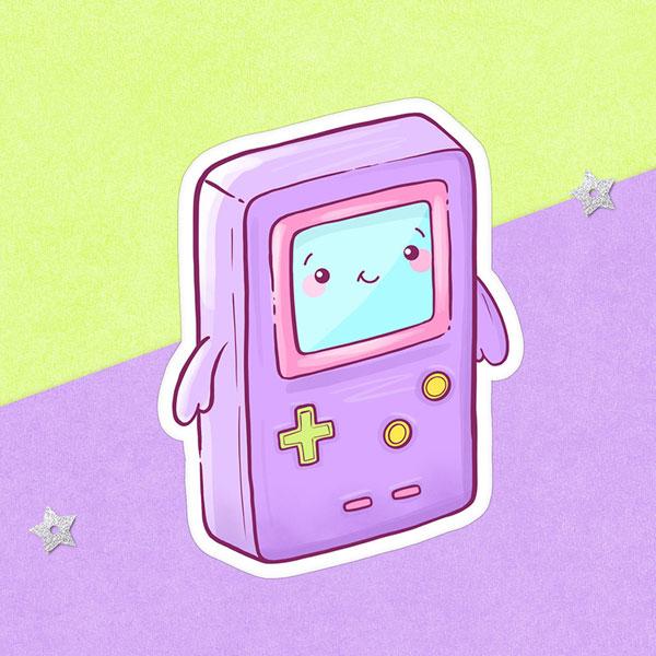 Cute Pastel Retro Gameboy sticker