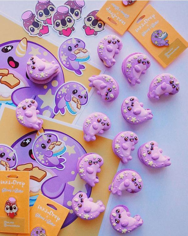 inki-drop x Honey & Butter Kawaii Macarons
