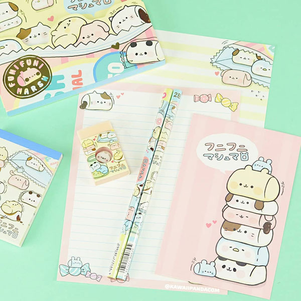 marshmallow animals kawaii stationery