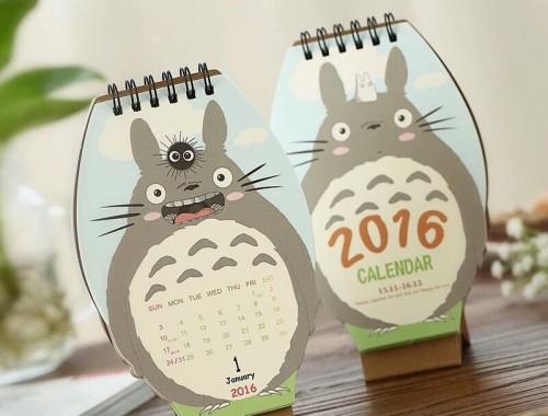 totoro calendar 2016