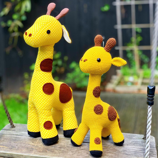 kawaii giraffe amigurumi crochet and sewing patterns