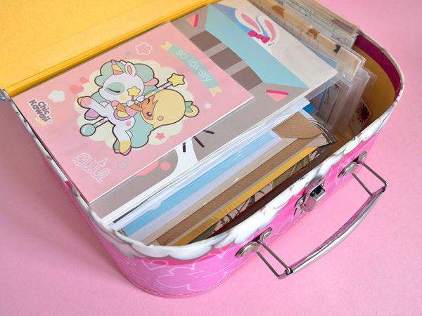 cute storage ideas - stationery suitcase
