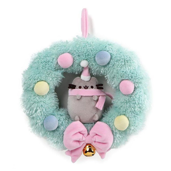 Kawaii Christmas decorations - Pusheen plush wreath