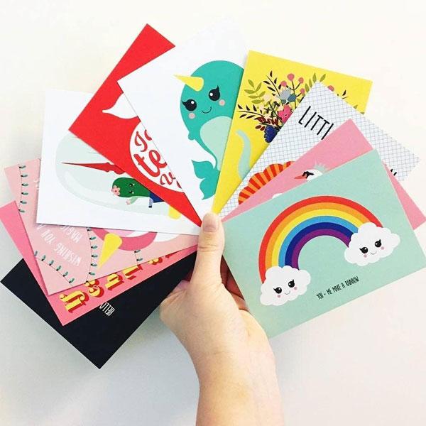 kawaii postcards
