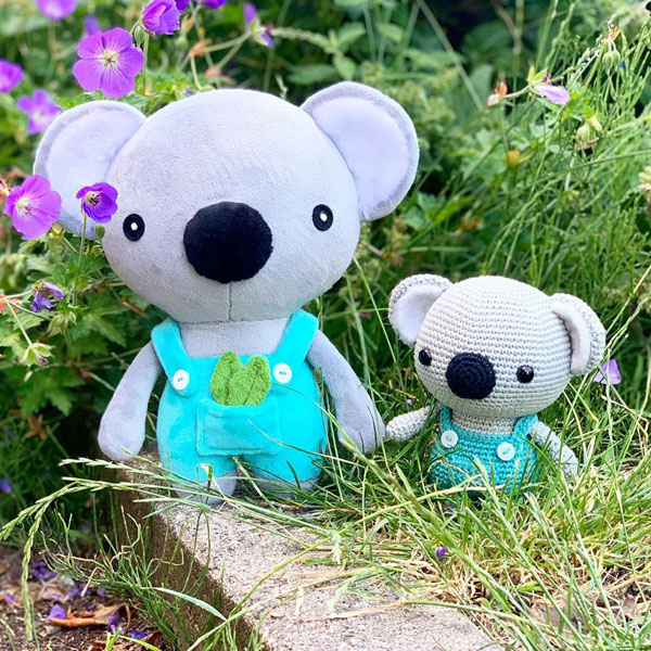 kawaii koala sewing pattern
