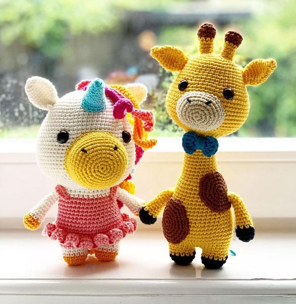 unicorn and giraffe kawaii amigurumi crochet patterns