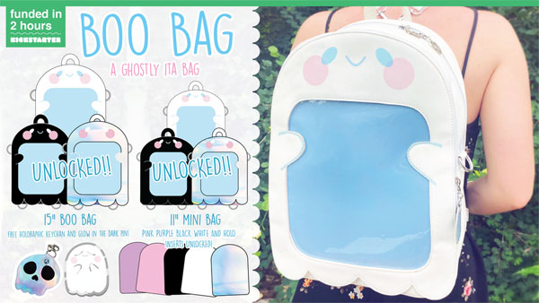 Kawaii Kickstarter Projects - Ghost ita bag