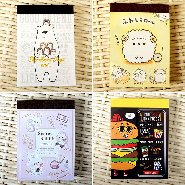 kawaii stationery memo pads