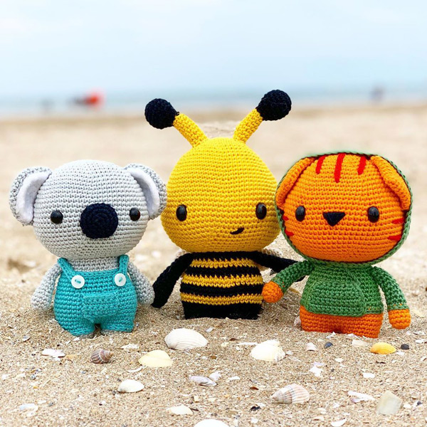 kawaii animals amigurumi crochet patterns