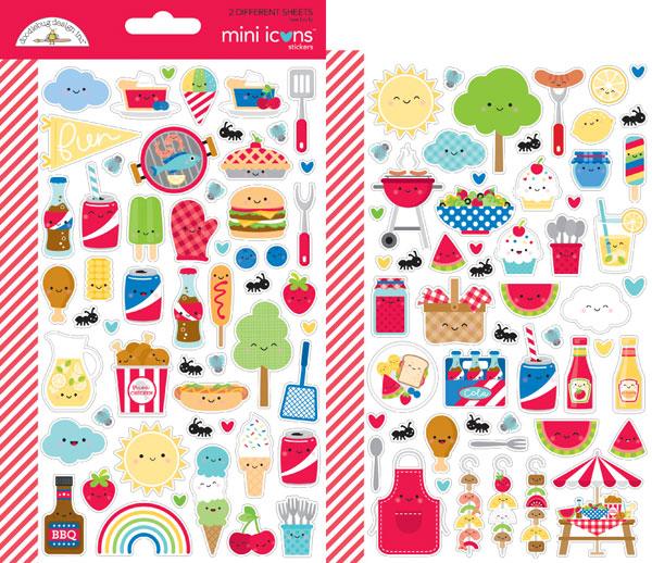 picnic kawaii stickers