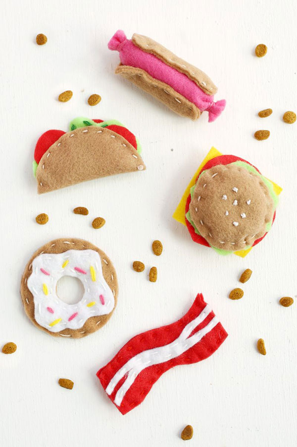 Kawaii Hamburger DIY cat toys