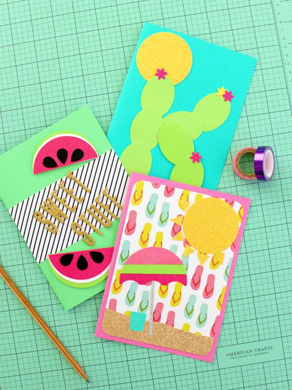 kawaii summer cards DIY