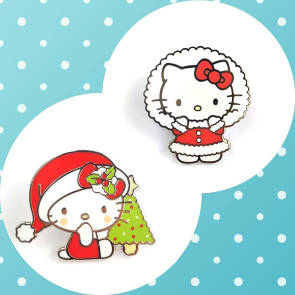 Hello Kitty Christmas enamel pins