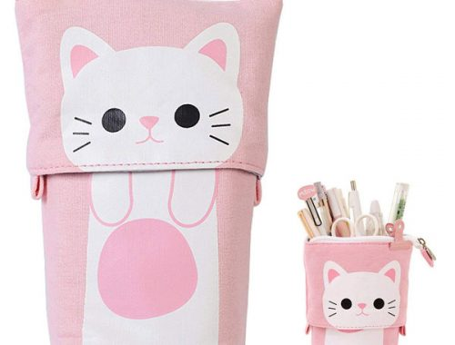 Pastel Planner Picks - cat pencil case
