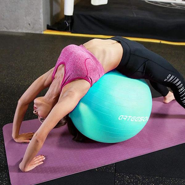 pastel exercise balls