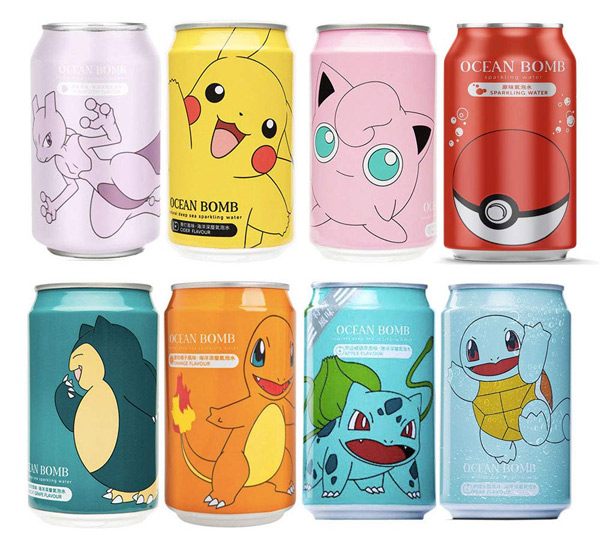 cute Veganuary treats - Pokemon soda