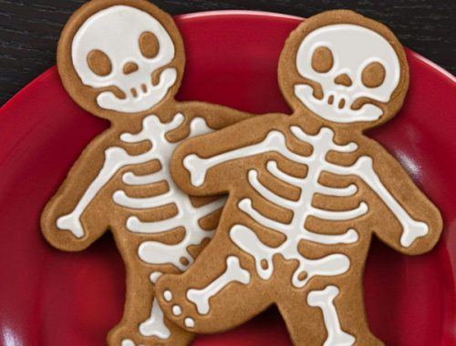 Halloween Party skeleton cookie cutters