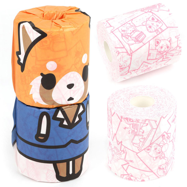 Aggretsuko red panda toilet tissue