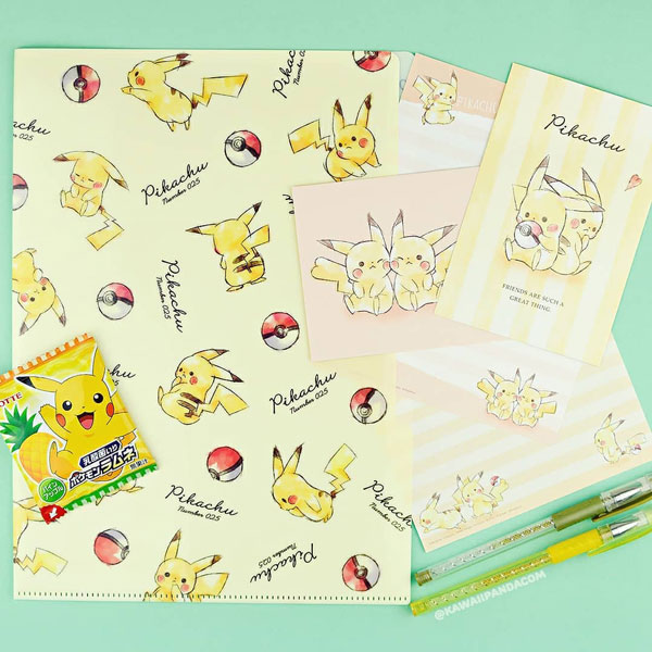 Pikachu kawaii stationery