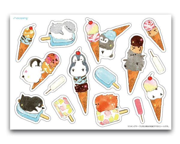 penguin kawaii sticker sheets