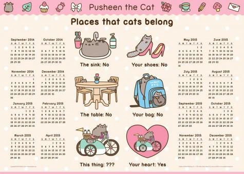 pusheen calendar