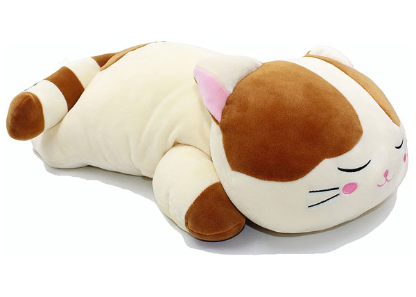 kawaii cat plush body pillow
