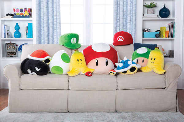 Super Mario Bros. plush pillows