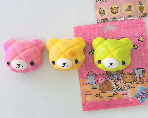 kawaii melon bun bear squishies