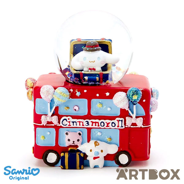 kawaii london bus cinnamoroll snow globe