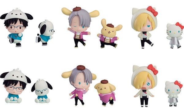 Yuri!!! on Ice x Sanrio kawaii figures