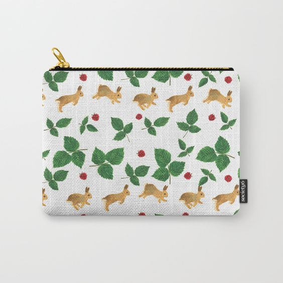cute bunny art pouch