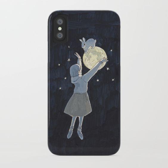 cute bunny art phone case