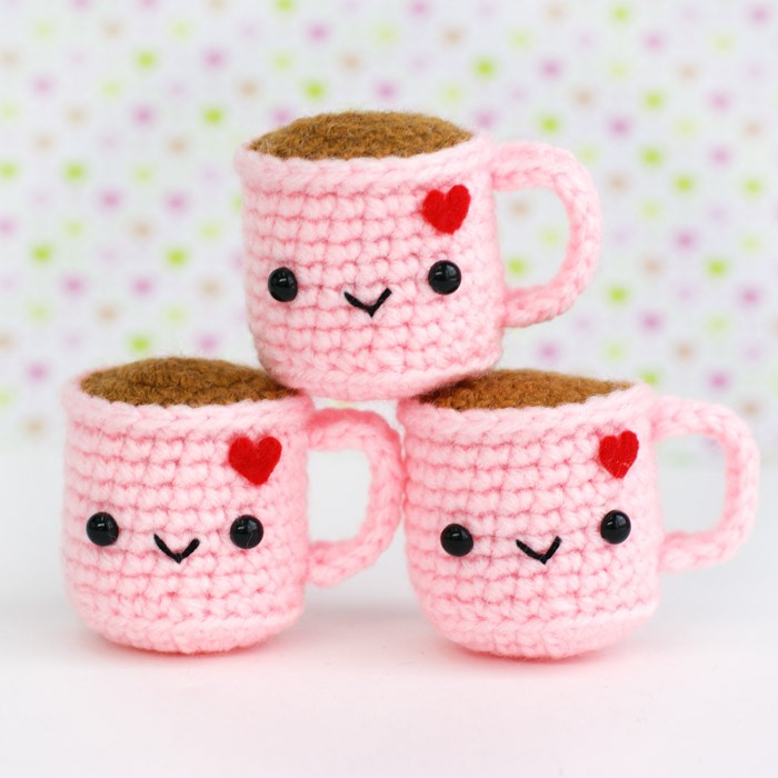 cute pink valentine amigurumi gift things kawaii gifts super adorable tiny tea sck today mugs logic coffee valentines etsy supercutekawaii